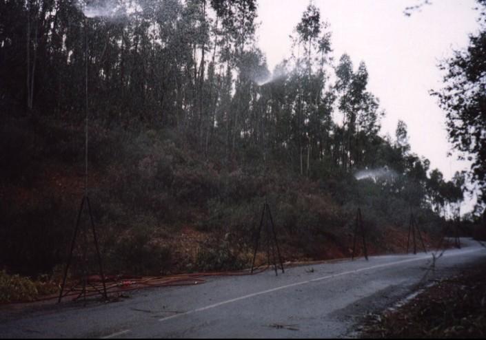 Efecto lluvia realizado con torres